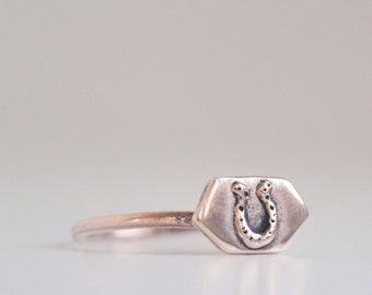 pinky finger horseshoe ring - free shipping