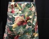 50% Sale Floral Tote With Pockets, Designer Fabirc, Lap Top, Books, Diapers, Market,Purse