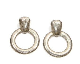 Vintage Silver Hoop Earrings