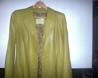 vintage ladies lime green jacket