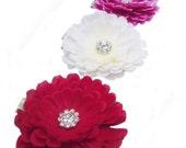 Flower hair clip: purple flower hair clip, Ivory flower hair accessory, red  flower hair clip, girls flower hair clip hair accessory
