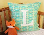 monogrammed pillow cover, letter L, custom available, 20x20