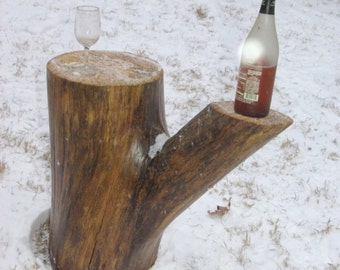 Rustic end table or coffee table with removable top