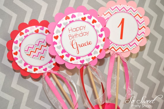 valentine birthday centerpiece sticks - valentine's day birthday, Ideas