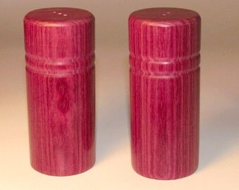 SALT and PEPPER SHAKERS Dymondwood