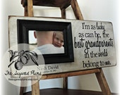 Grandparents, Gift for Grandparents, Grandma, Grandpa, Grandparents Gift, Grandmother, Grandfather, Grandparents Frame, 8x20 I'm as Lucky