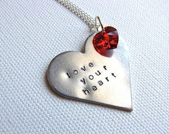 Love Your Heart Stamped Necklace