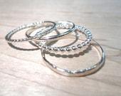 Stacking Rings, silver stacking rings, stack rings, Stackable silver rings, Silver stack, midi rings, thumb rings, silver rings, boho rings