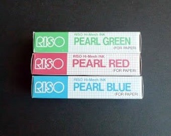 Riso Gocco Hi Mesh Ink - one tube of Pearl Red