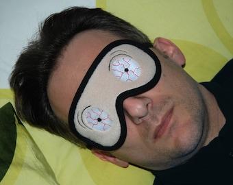 Scary Sleep Mask, Crazy sleeping eye mask, Zombie Veins sleepmask, Horror Men's Spooky eyemask, Scary gift for him, Tired face, Hangover kit