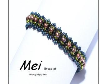 Beadweaving Bracelet pattern - Mei Bracelet