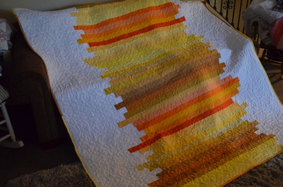 Line Art Quilt Pattern Holly Hickman : Quilt line art sunrise sunset twin made to order