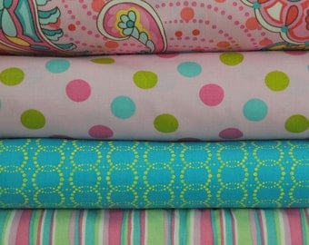 Sorbet Floral Fat Quarter Bundle for Fabric Traditions, 1 yard total