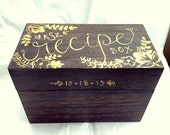 Personalized Recipe Box, FANCY (Monogram Gift!)