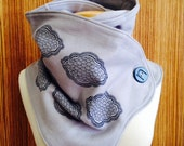 60% OFF! The grey and blue cloud print Hooded scarf