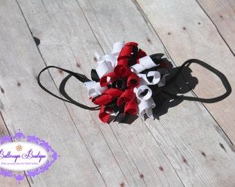 Ladybug headband, ladybug korker, Korker hair bow, korker, baby headband, infant headband, korker headband