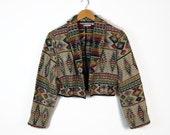 80s southwestern boxy cropped jacket // sz m - l
