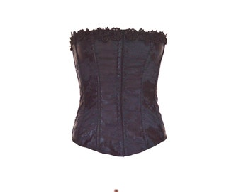 90s Black Embroidered Basque size - M
