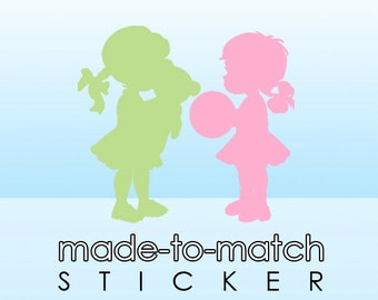 Made-to-Match Sticker. Digital File - to coordinate with SSC Card Design