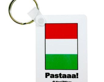Hetalia Italy Rectangle Keychain: Pastaaa