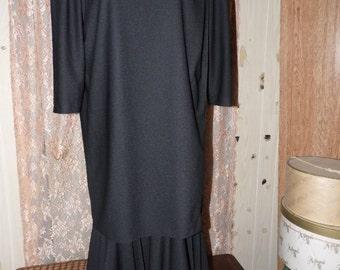 Vintage Risa Ann Black Evening Dress/Sz 16