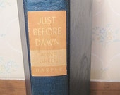 Just Before Dawn by Anne Green, First Edition