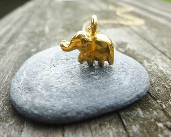 gold elephant necklace-elephant necklace-baby elephant necklace-elephant charm necklace,dainty Yoga Jewelry-elephant pendant necklace