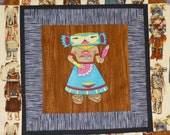 Kachina Embroidered Wall Hanging