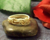 14k Gold Filled Knot Ring in Rope Wire