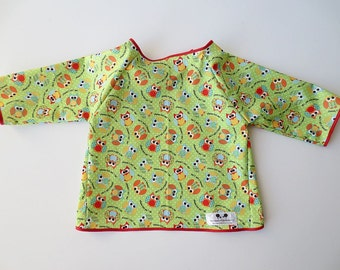 4/5 Kid Art Smock - Size 4T 5T - Owl Print -Waterproof and Long Sleeved
