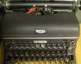 Royal Manual Typewriter Glass Keys Magic Margin