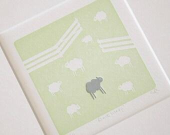 Black Sheep - Letterpress Print