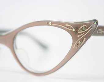 Rhinestone Cat Eye Glasses Cateye Eyeglasses NOS Vintage Mink