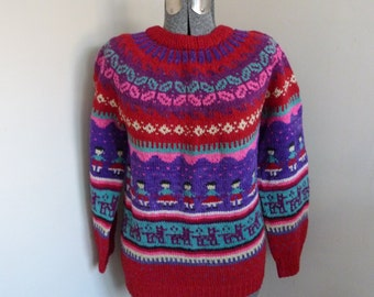 Vintage Hand Knit Sweater Mexico?