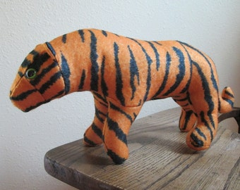 Felt Stuffed Tiger
