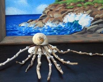 Coastal Shores Driftwood Octopus