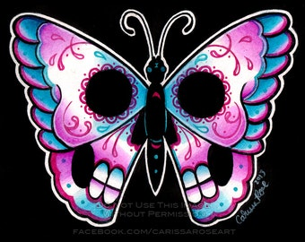 Day of the Dead Butterfly | Limited Edition | Art Print