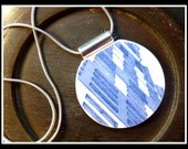 Architectural Blue - Recycled BROKEN CHINA PLATE Necklace