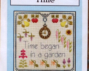 Time - Charm Embellishment - Speciality Stitches - Counted Cross Stitch - Little Leaf Design Kit - Elizabeth's Design