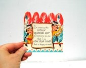 Vintage NOS Birthday Card, Mid Century Birthday Card NOS, Cute Kitschy Children's Birthday Card