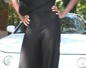 Off The Shoulder Jumpsuit Black