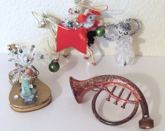 4 1950s to 60s Christmas Ornaments