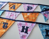 Happy Birthday Fabric Banner - Princes and Princesses