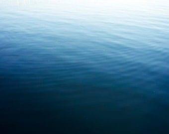 """Ocean Photography, Dark Blue Ocean Art, Deep Sea Nautical Decor, Ombre Water Photograph, Ocean Art """"Nautical Sea"""""""