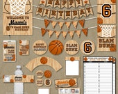Basketball Birthday Party Package Favors Banners Decorations - Printable DIY