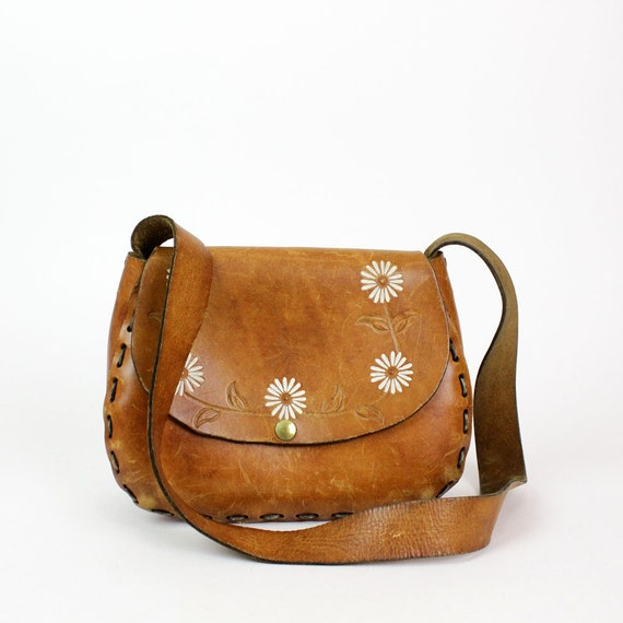 Leather Hippie Bag Leather Purse / Big Hippie