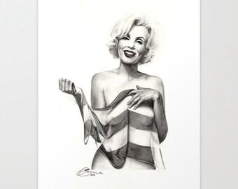 "Marilyn Monroe 1, Print 5"" x 7"" - Paint the Moment"