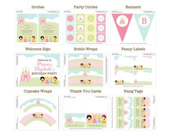 50% Off Sale! - PRINTABLE Princess Party Package
