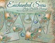 Mermaid Party Printable, Mermaid Party, Mermaid DIY Party, Party Printable