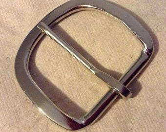 Plain Silver Belt Buckle